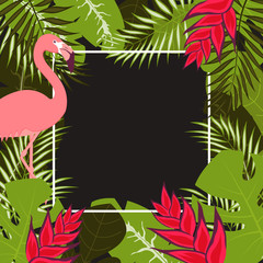 flower flamingo frame 1