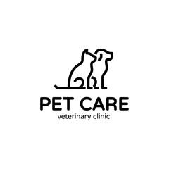 Vector Dog And Cat Pet Logo Template