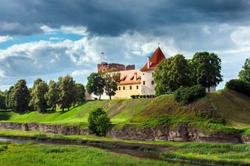 Old ancient Bauska castle in Latvia