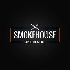 smokehouse logo design on black background