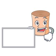 With board medical gauze character cartoon