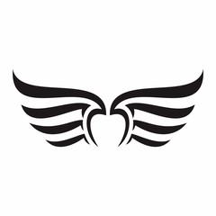Wings Logo Vector Silhouette