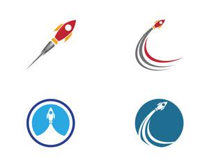 Rocket vector illustration icon