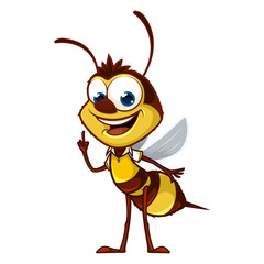 Cartoon bee with idea