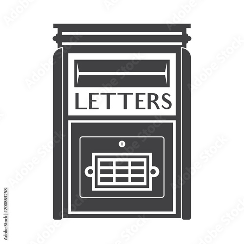 Modern Letter Box For Mail Letters Outline Illustration Vintage - Mailbox label template