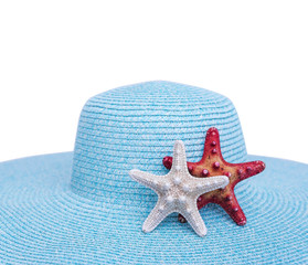 Starfish on a hat.
