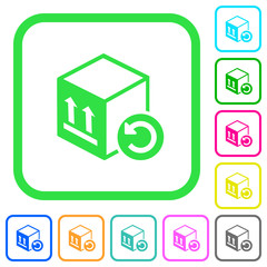 Package return vivid colored flat icons