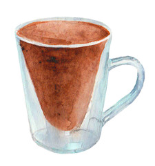 Watercolor cup of