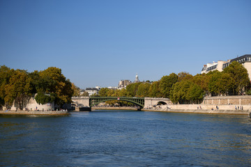Pictures of Paris while walking along the river Seine