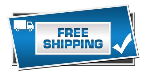 Free Shipping Blue Grey Squares Symbol