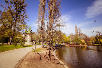 Frühling im Stadtpark in Wien, Österreich