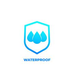 waterproof icon, water resistant vector