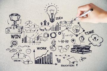Leadership, success and idea concept