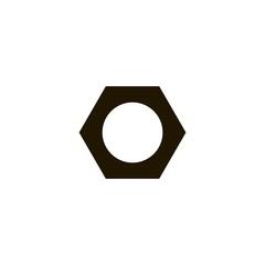 nut icon. flat design