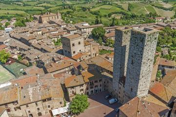 Fototapete - Medieval Tuscany town - San Gimignano, Tuscany, Italy