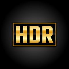 High dynamic range symbol, mark for wide range color display
