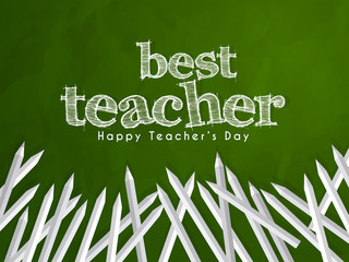 nice and beautiful abstarct or poster for National Teacher's Day or Teacher's day with nice and creative design illustration.