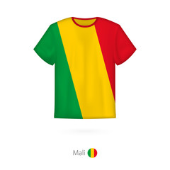 T-shirt design with flag of Mali.