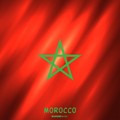 National Morocco flag background