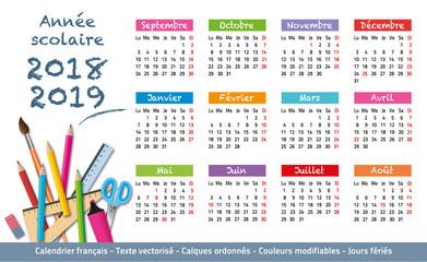 2018-2019-Calendrier année scolaire-3