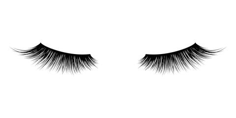 Eyelash or lash mascara vector icons