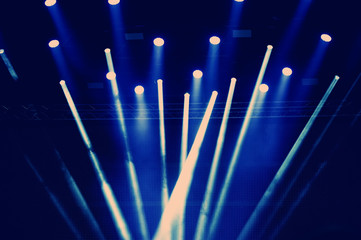 concert lighting of a free scene.