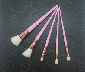 Schminkpinsel-Set in rosa