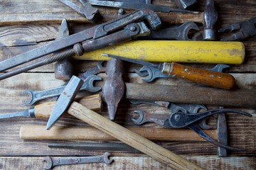 A set of working vintage metalwork and repair tools