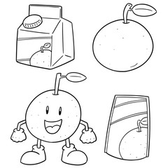 vector set of oranges