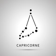 Capricorne constellation simple black icon