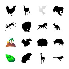 icon Animal with running, racing, forest, head and nanny goat
