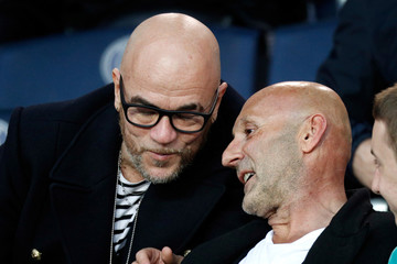 French singer Pascal Obispo attends a French Ligue 1 soccer match in Paris