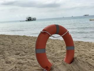 Bouée sauvetage plage