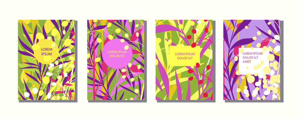 Colorful artistic background with bright blossom. Cover design with floral pattern.It can be used for invitation, 