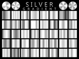 Silver background texture vector icon seamless pattern. Light, realistic, elegant, shiny, metallic and silver gradient illustration. Mesh vector. Design for frame, ribbon, coin, abstract