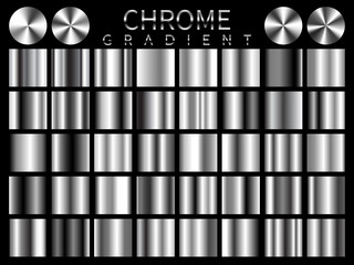 Chrome background texture vector icon seamless pattern. Light, realistic, elegant, shiny, metallic and chrome gradient illustration. Mesh vector. Design for frame, ribbon, coin, abstract Wall mural