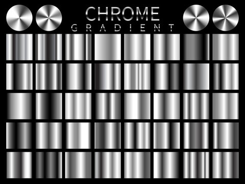 Chrome background texture vector icon seamless pattern. Light, realistic, elegant, shiny, metallic and chrome gradient illustration. Mesh vector. Design for frame, ribbon, coin, abstract