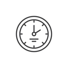 Wall clock outline icon. linear style sign for mobile concept and web design. Office watch simple line vector icon. Symbol, logo illustration. Pixel perfect vector graphics