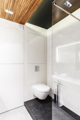 Simple, white bathroom interior