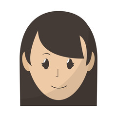 avatar happy woman head with hairstyle
