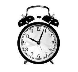 old black alarm clock