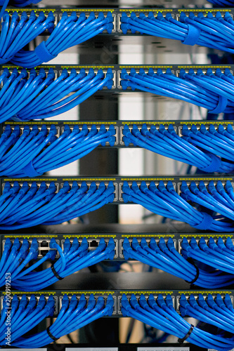 Wondrous Lan Cable Wiring And Networking In The Network Or Server Rack In The Wiring Digital Resources Funapmognl