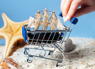 The concept of buying a sea cruise