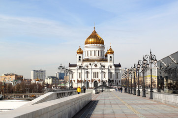 Photo of a beautiful landscape with the Cathedral of Christ the Savior