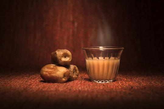 Ramadan dates with Arabian coffee