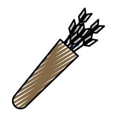 doodle pointer arrow element to sport game