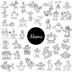 cartoon alien fantasy characters big set