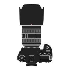 Modern DSLR camera vector illustration