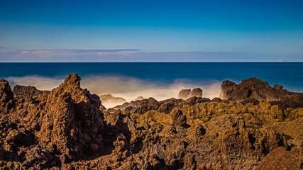 Lanzarote, Brandung an der Playa de Madera