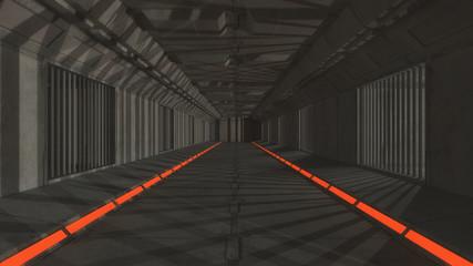 3drender futuristic interior jail